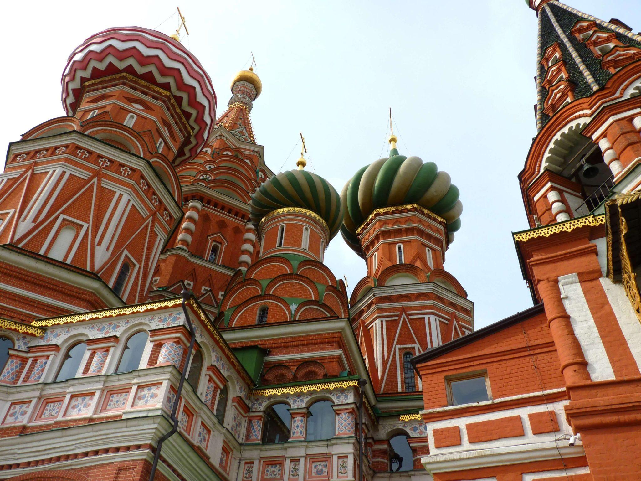 Catedral de São Basílio cupulas 02 Moscovo Rússia Mundo Indefinido