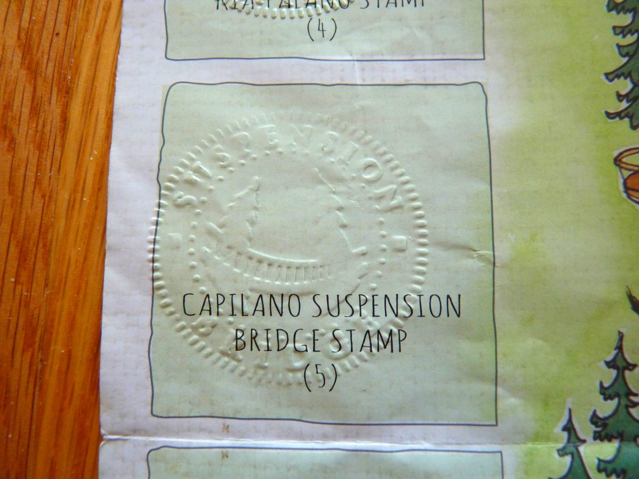 Carimbo Capilano Suspension Bridge Park Vancouver Canadá Mundo Indefinido