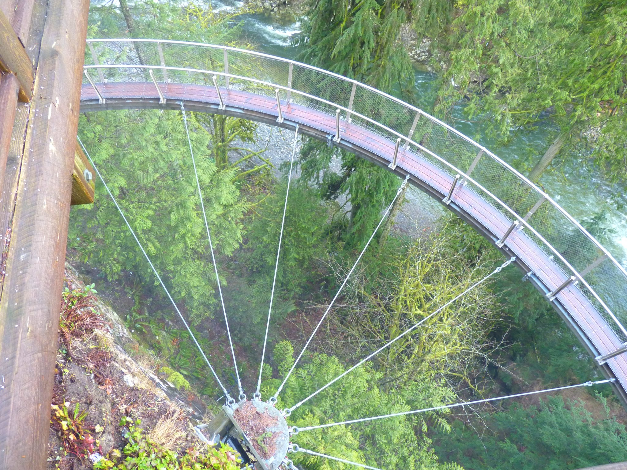 Cliffwalk 03 Capilano Suspension Bridge Park Vancouver Canadá Mundo Indefinido