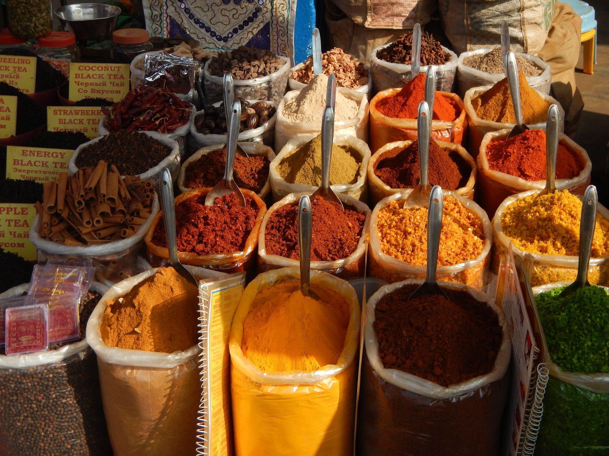 Especiarias Mercado Mapuçá Goa Índia 01 Mundo Indefinido