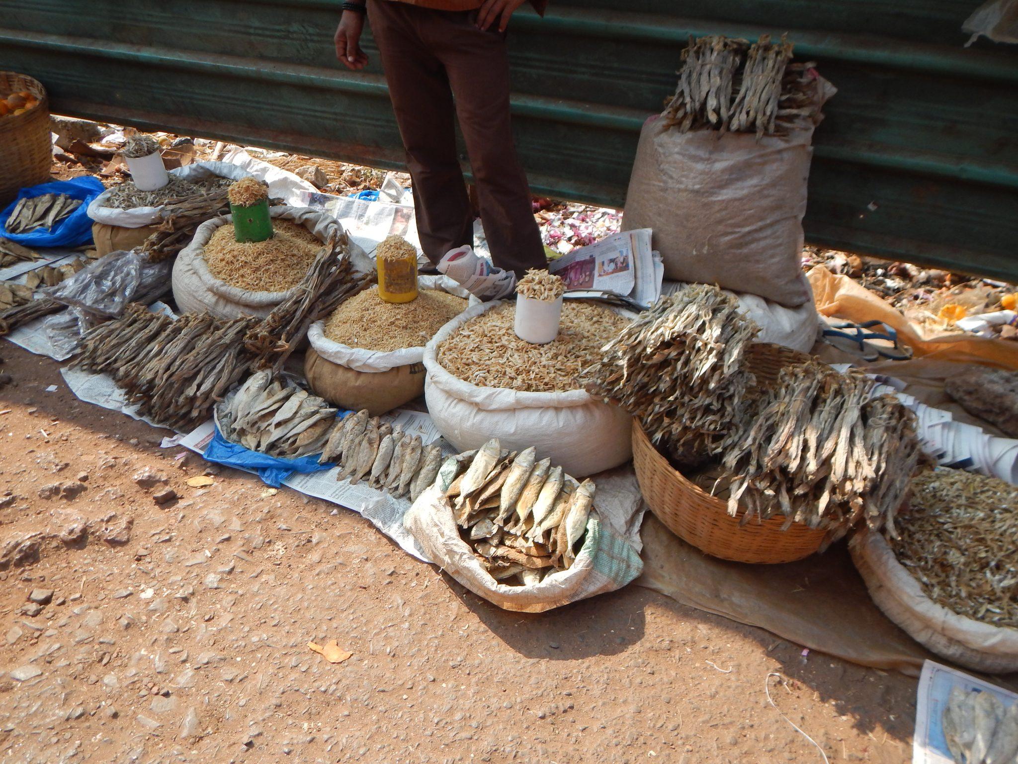 Peixe Mercado Mapuçá Goa Índia 01 Mundo Indefinido