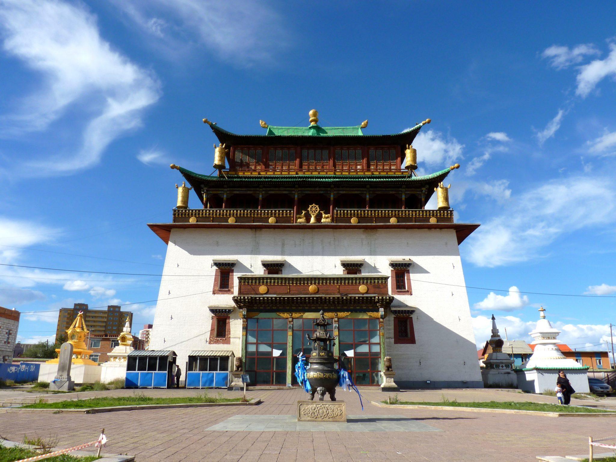 Mosteiro de Gandantegchinlen Khiid 03 Ulaanbaatar Mongólia Mundo Indefinido